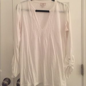 Loft 100% Cotton White Tunic